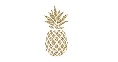 T shirt png dlpng. Clipart pineapple gold glitter