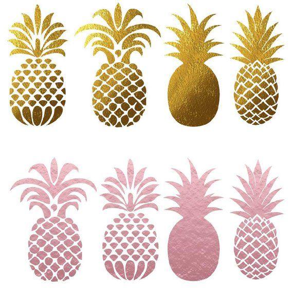 Clipart pineapple gold glitter. Clip art pineapples tropical