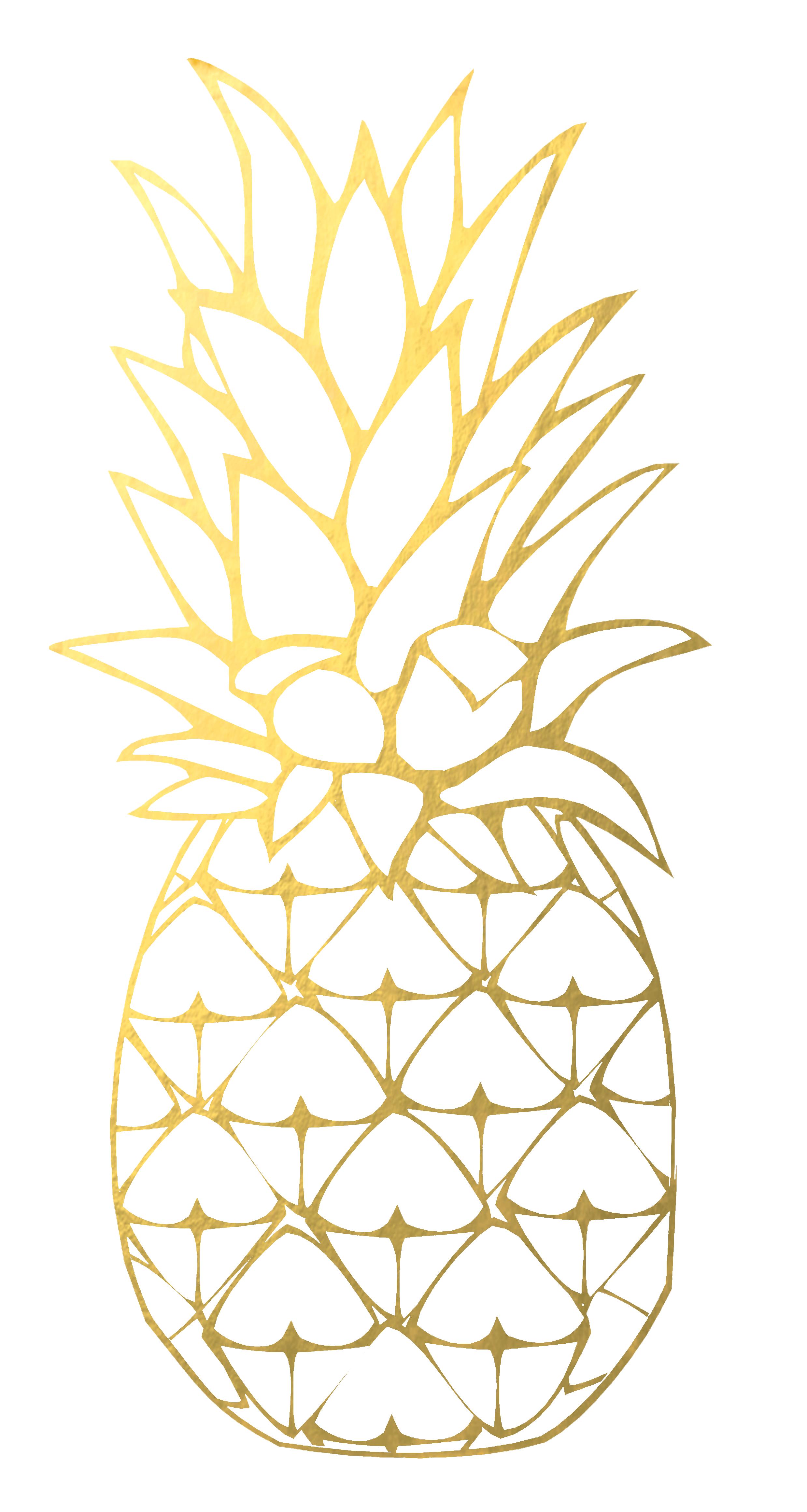 Kawaii designs hawaii cupcake. Clipart pineapple gold pineapple