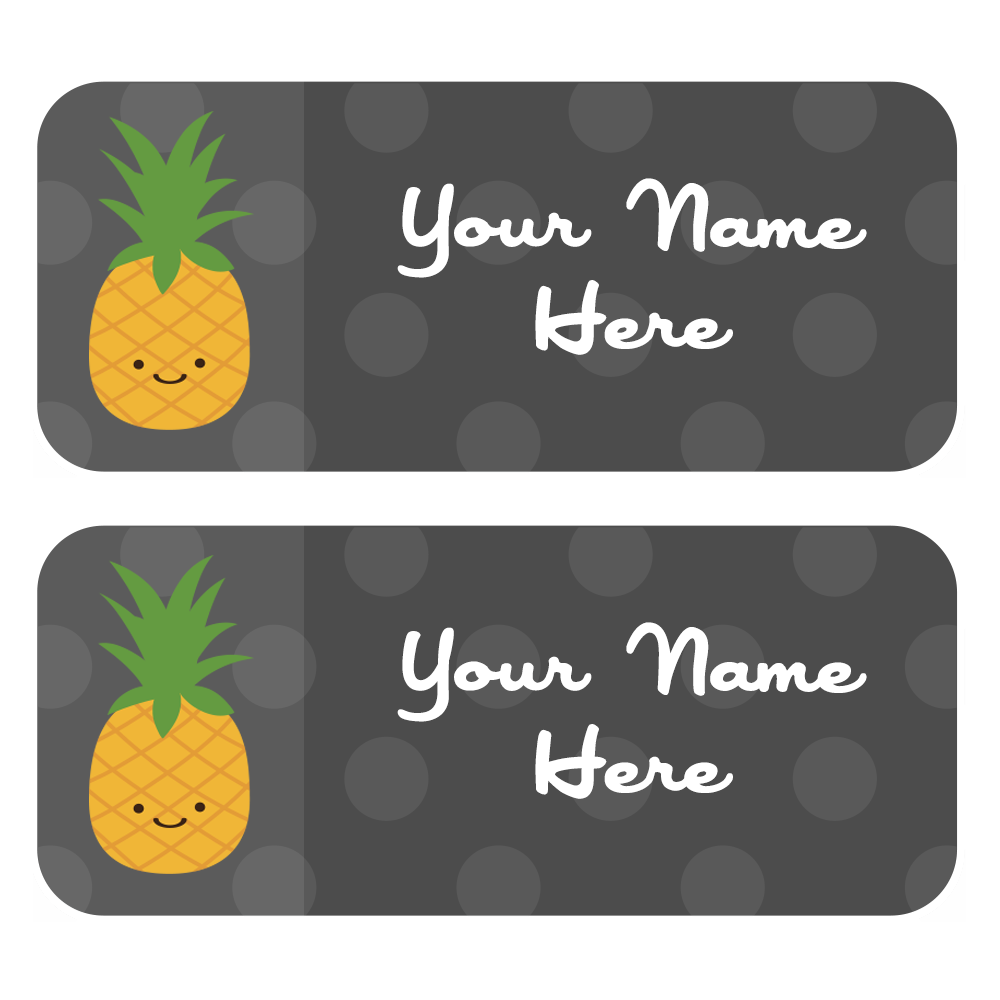 Label set of choose. Pineapple clipart grey