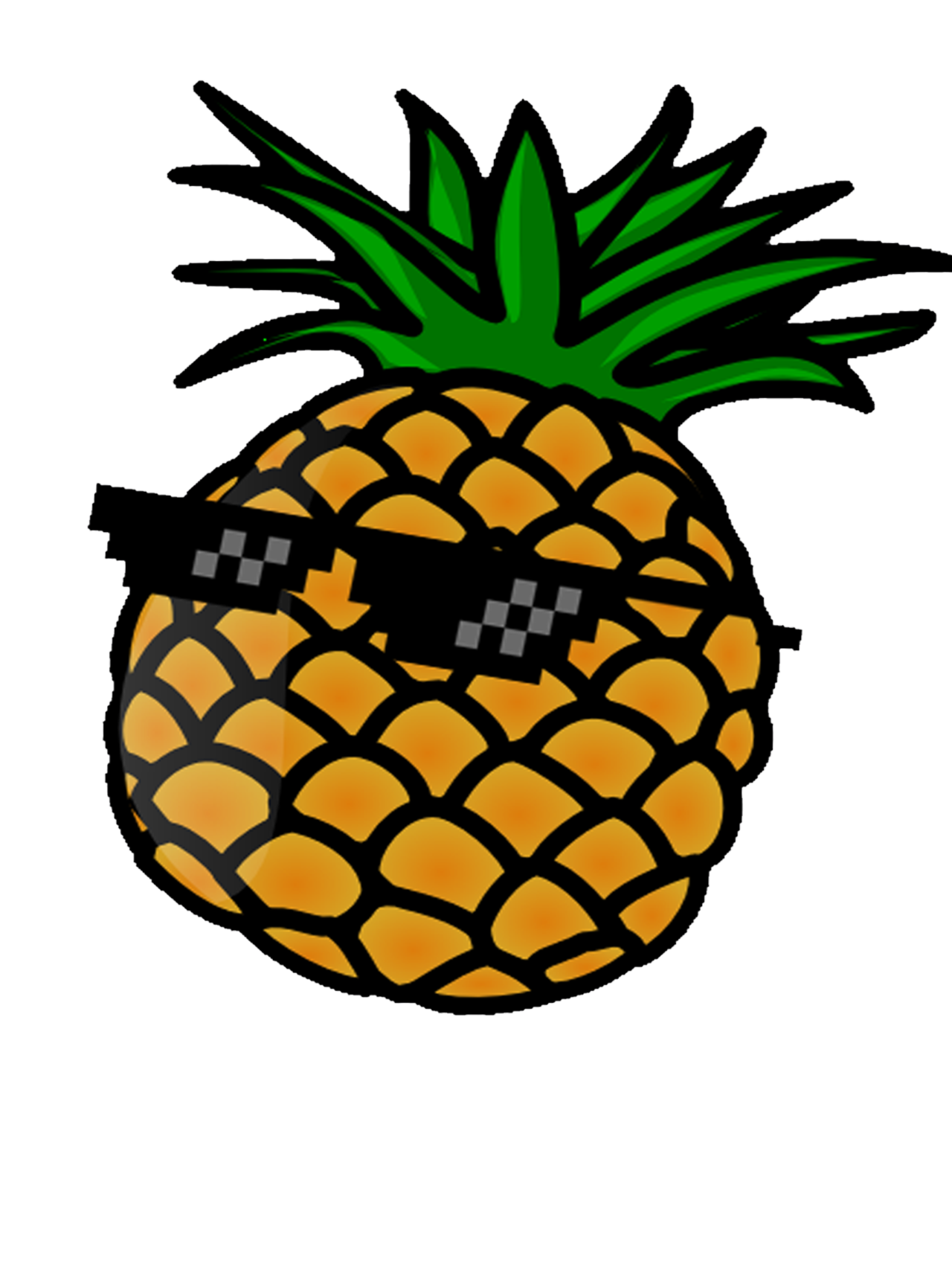Clipart sunglasses pineapple. Emojipop pineapples are cool
