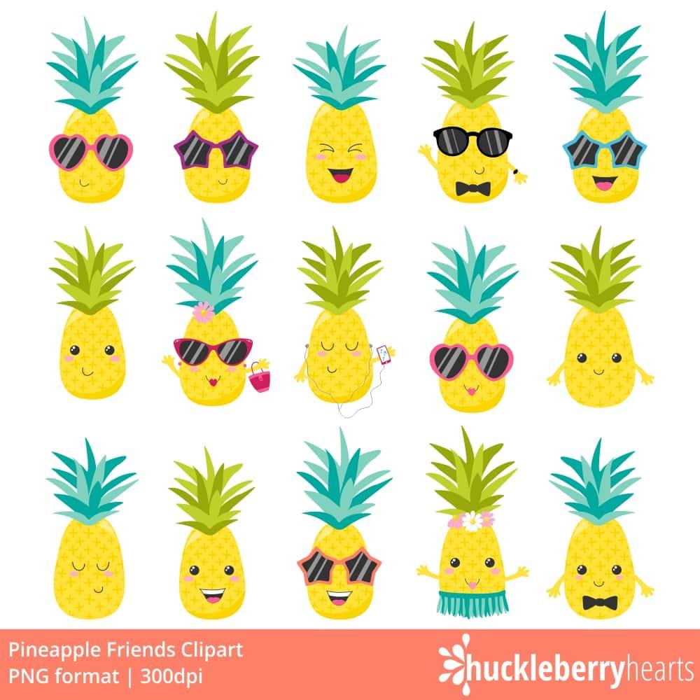 Pineapple clipart birthday. Friends