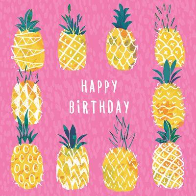 clipart pineapple happy birthday
