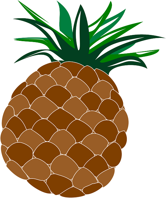 Free image on pixabay. Pineapple clipart hawaiian theme