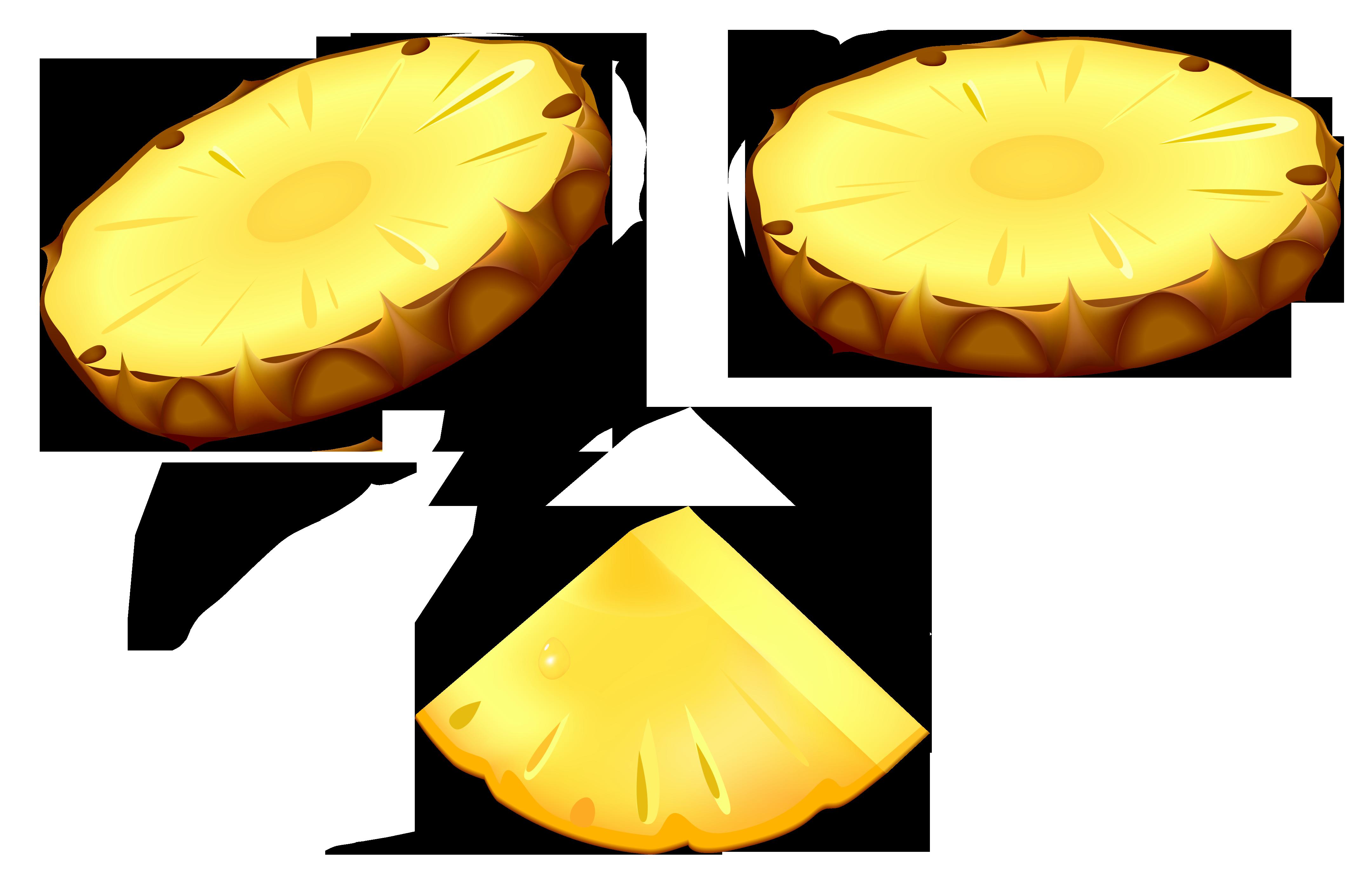 Free photo sliced slice. Pineapple clipart juicy