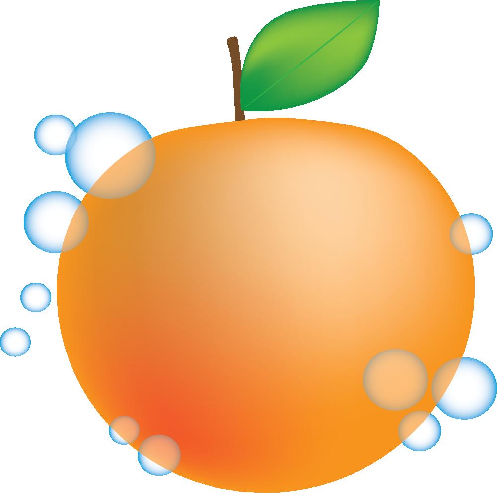 Peach mandarin orange animation. Pineapple clipart juicy