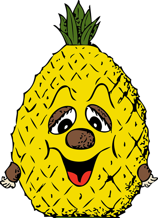 Kids nutrients fruits and. Clipart pineapple kid