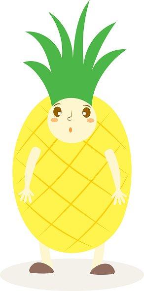 Clipart pineapple kid. Cute costumes fruit premium