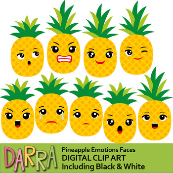 Emotions clip art feelings. Clipart pineapple kid