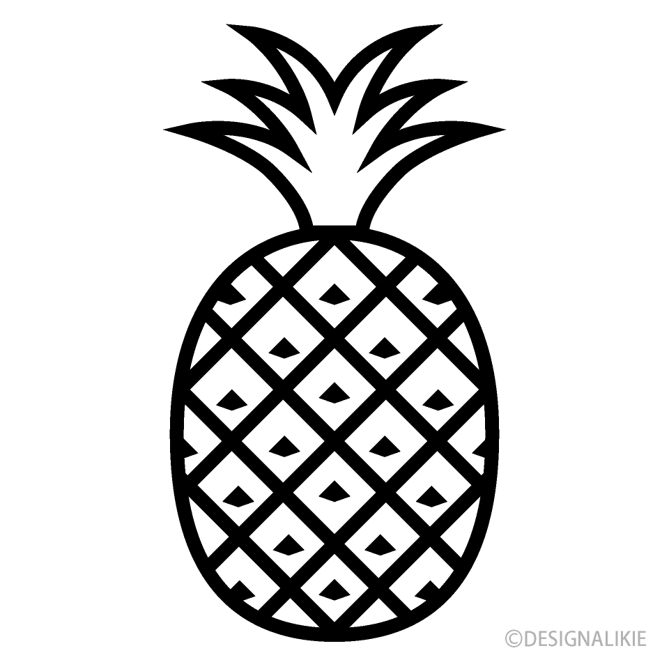 Pineapple clipart black and white. Icon free picture illustoon