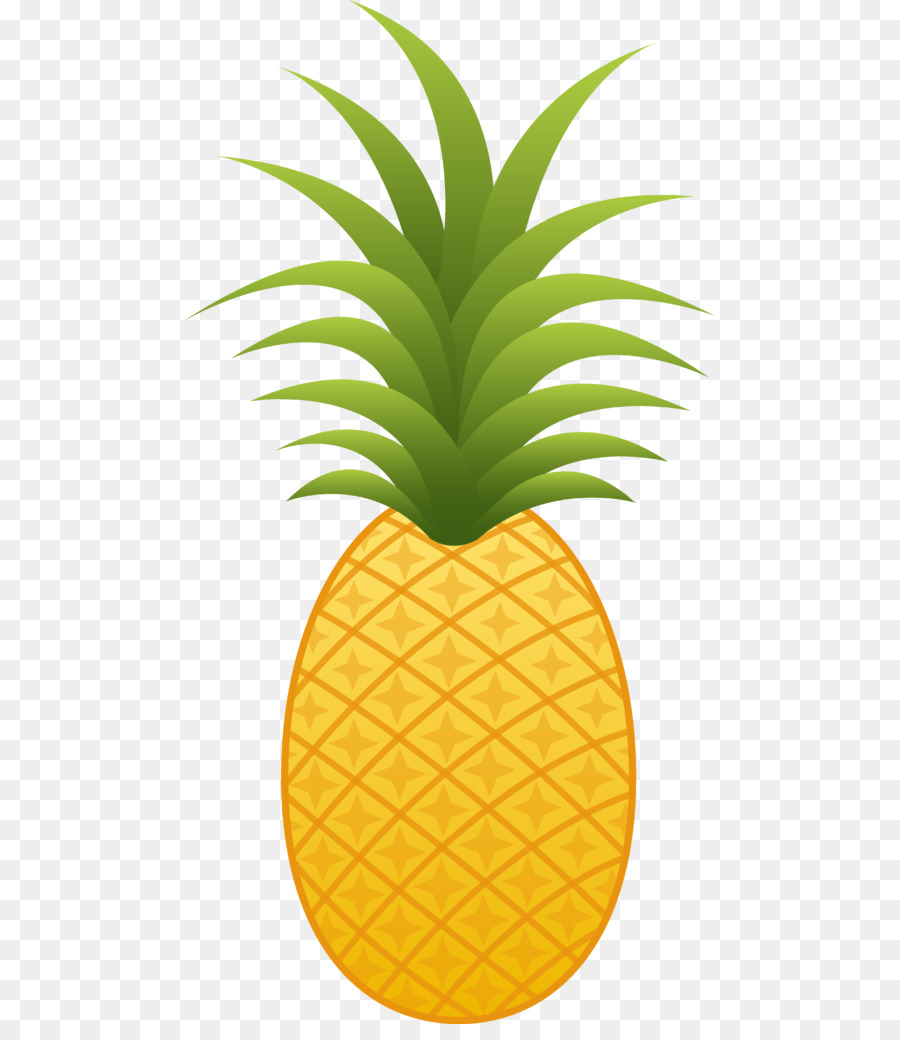 Cartoon ananas . Pineapple clipart luau