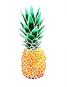 best images in. Pineapple clipart modern