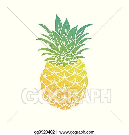 Vector illustration . Pineapple clipart modern