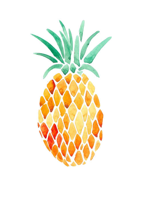 Pineapple clipart easy. Pin by the neon