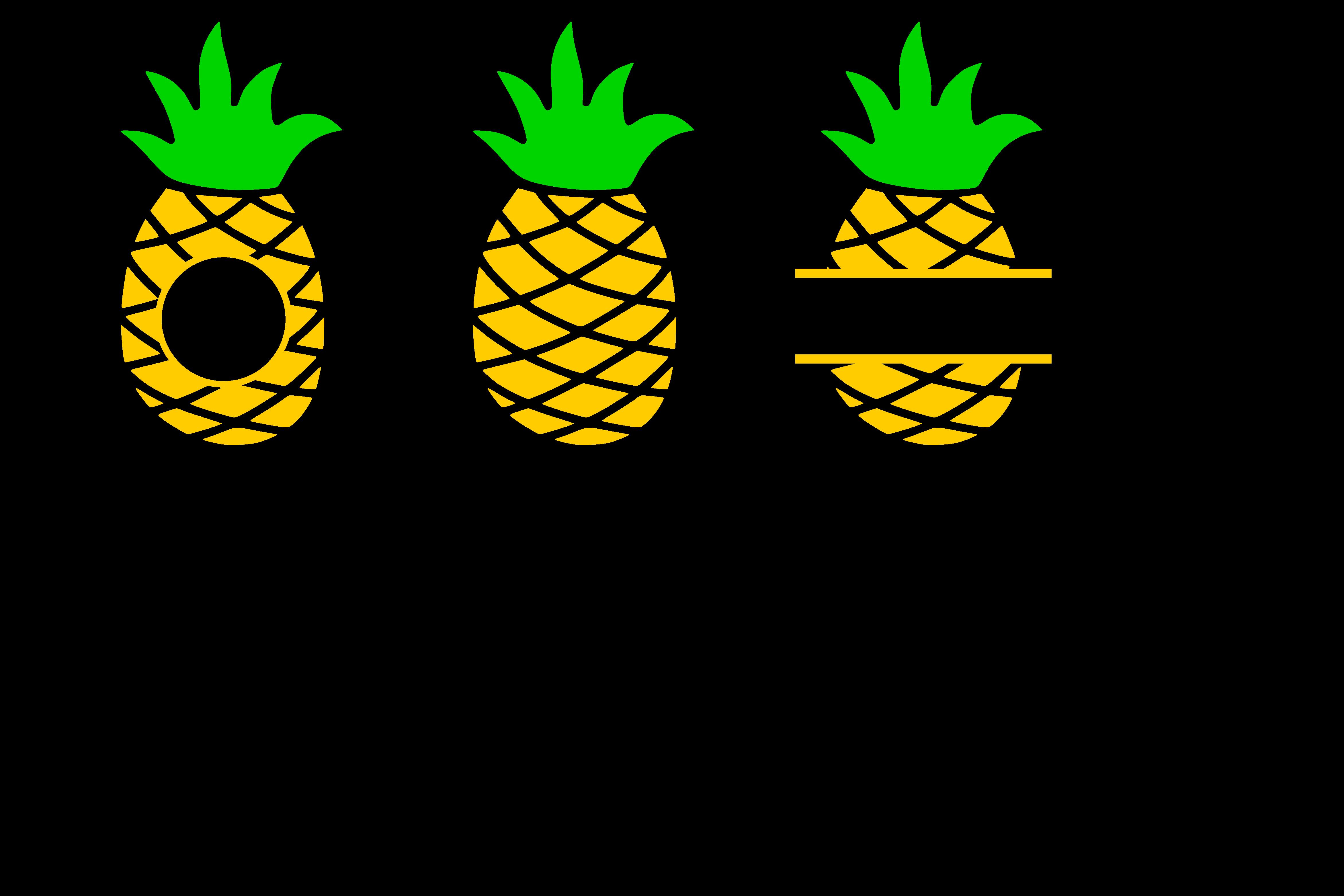 Pineapple heart svg design. Monogram frame png