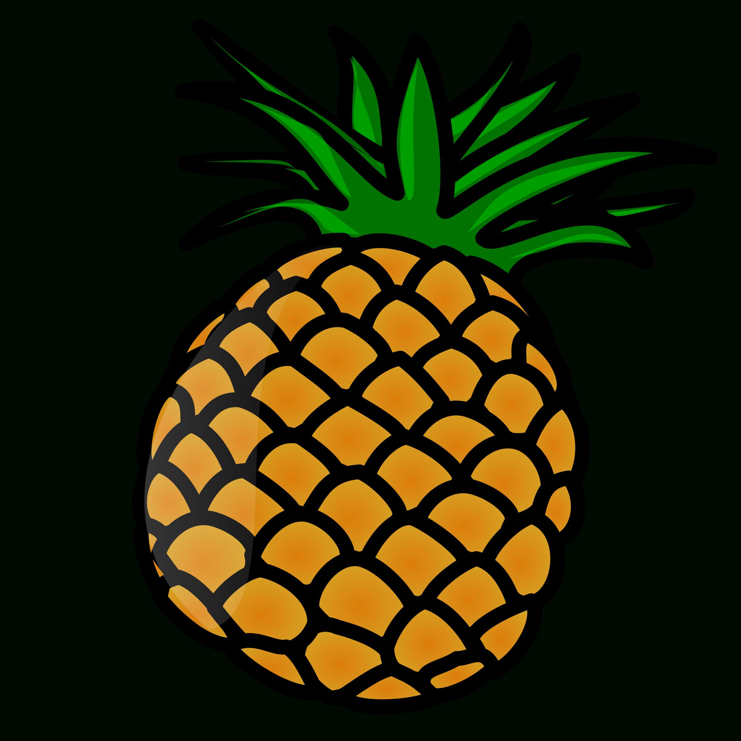 Pineapple clipart monogram. Slice letters format nicubunupineapple