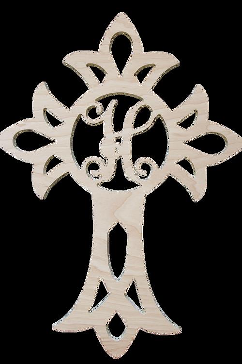 Easter cross wood monograms. Pineapple clipart monogram