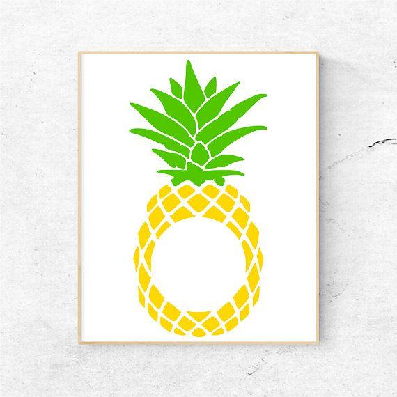 Svg files for cricut. Clipart pineapple monogram