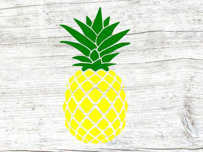 Clipart pineapple monogram. Svg base cut files