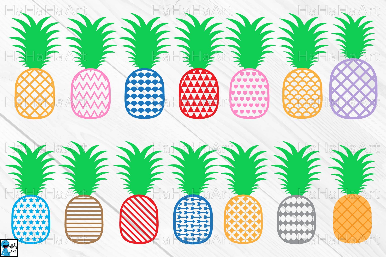 Clipart pineapple monogram. Clip art cutting files
