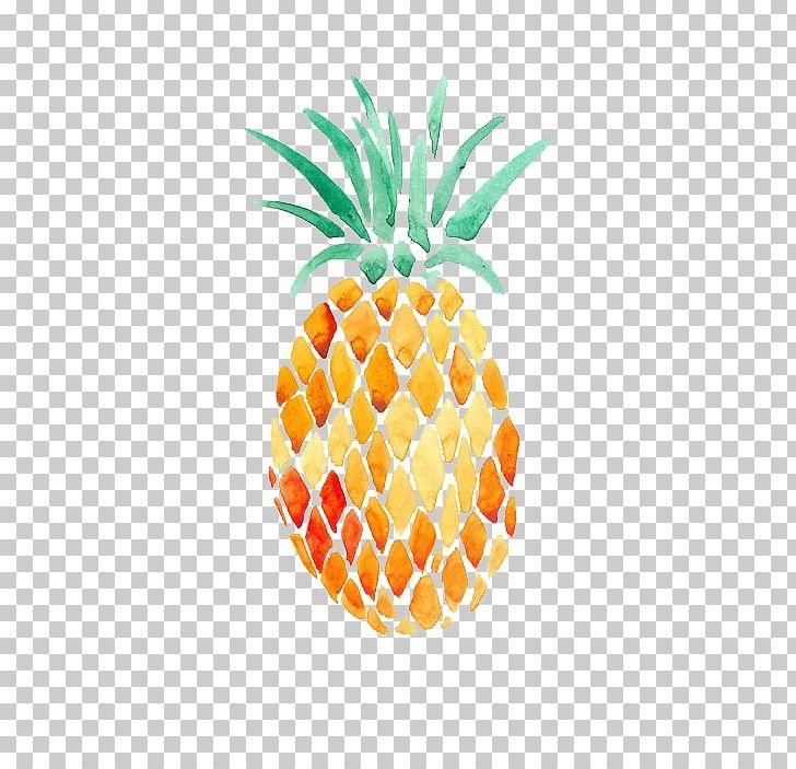 Watercolor painting art transparent. Pineapple clipart oil paint