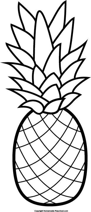 Free cliparts download clip. Clipart pineapple outline