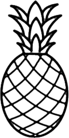 Free download best on. Clipart pineapple outline