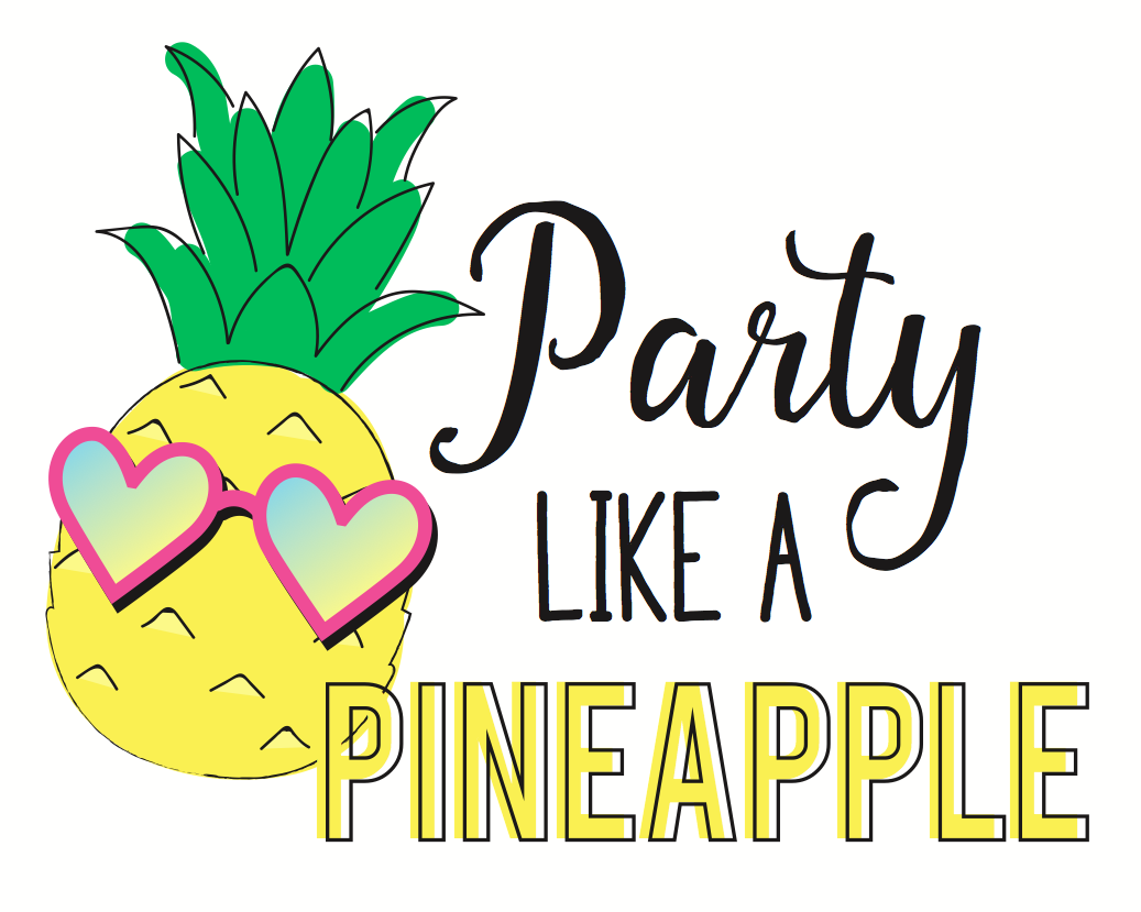 Pineapple clipart happy birthday. Party like a free