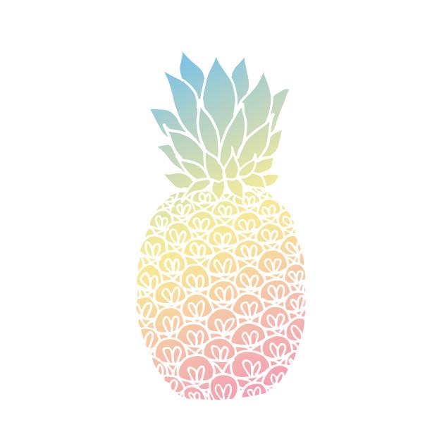 Clipart pineapple pastel.