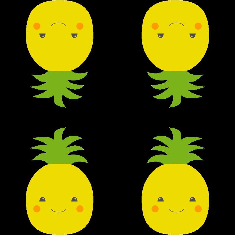 Pineapple clipart kawaii. Wallpaper shortcake studio spoonflower