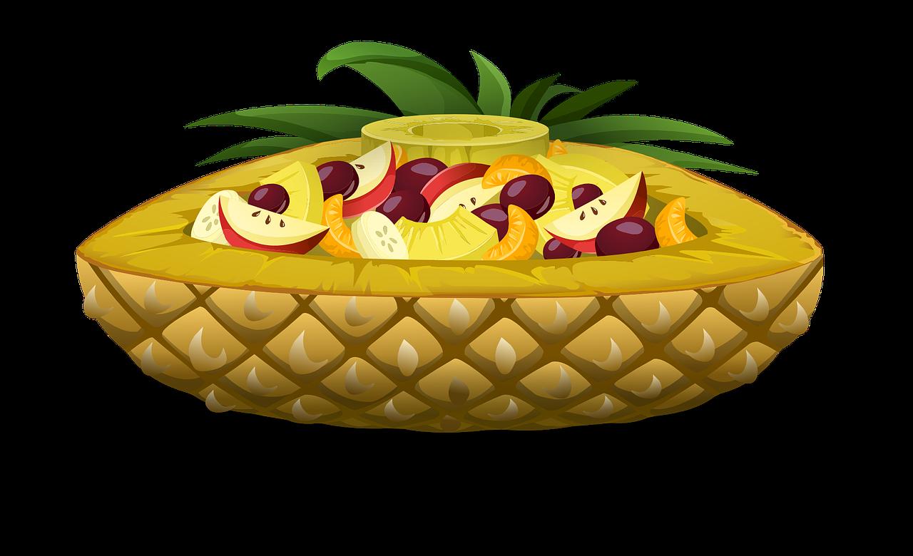 Clipart pineapple pastel. Ensalada de frutas pi