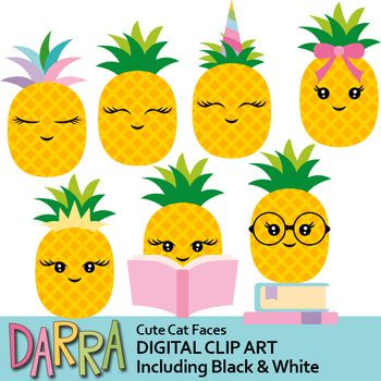 Clipart pineapple pastel. Pretty chic pineapples clip