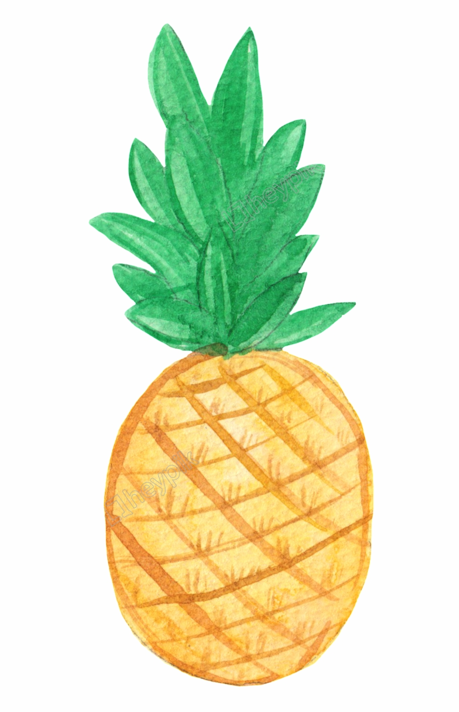 Drawing hello free png. Clipart pineapple pastel