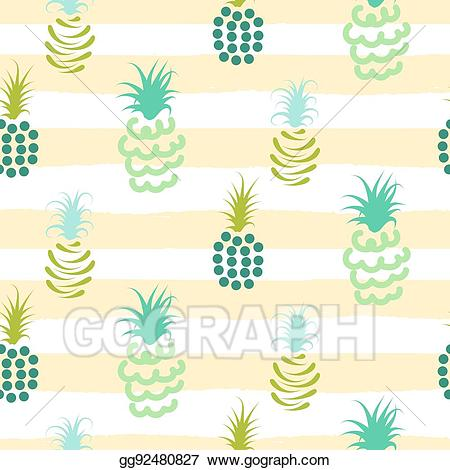 Clipart pineapple pastel. Vector illustration abstract colors