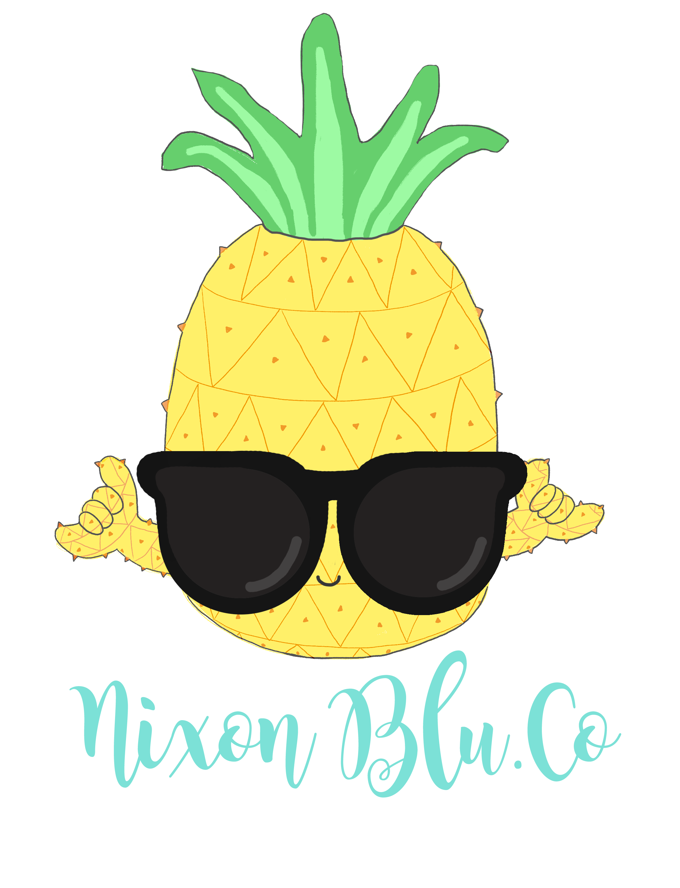 Requested logo designs on. Clipart pineapple pastel