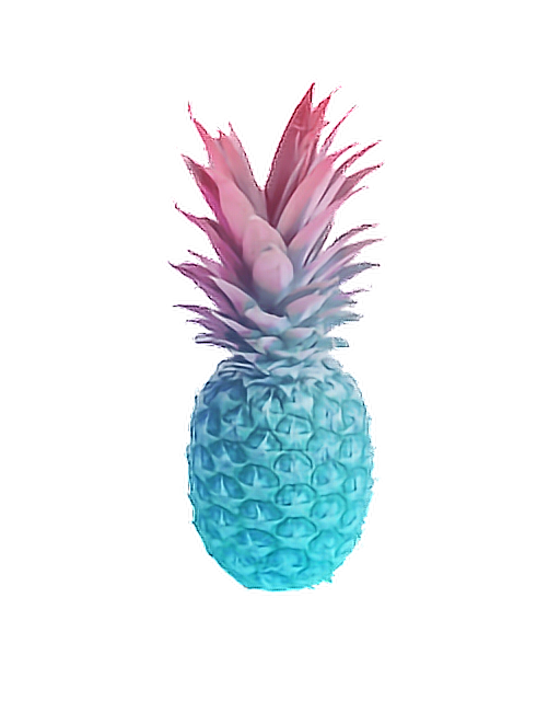 pineapple gradient ombre pastel summer fruit pink blue