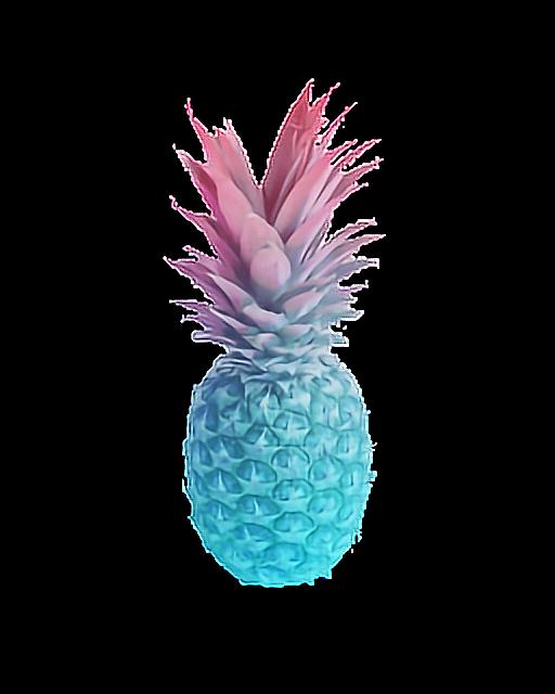 Gradient ombre summer fruit. Clipart pineapple pastel