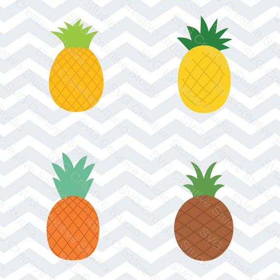 Clipart pineapple pdf. Bundle cutting file svg