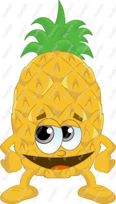Clip art panda free. Clipart pineapple person