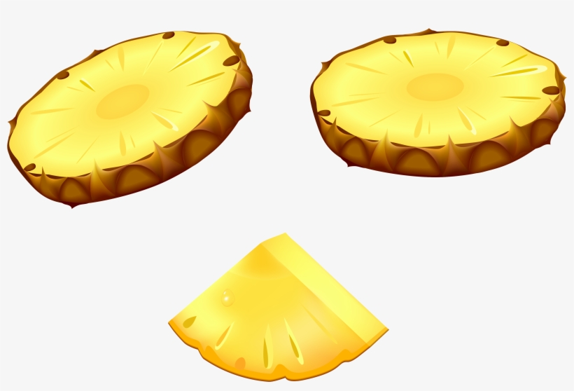 Border free slice png. Clipart pineapple piece