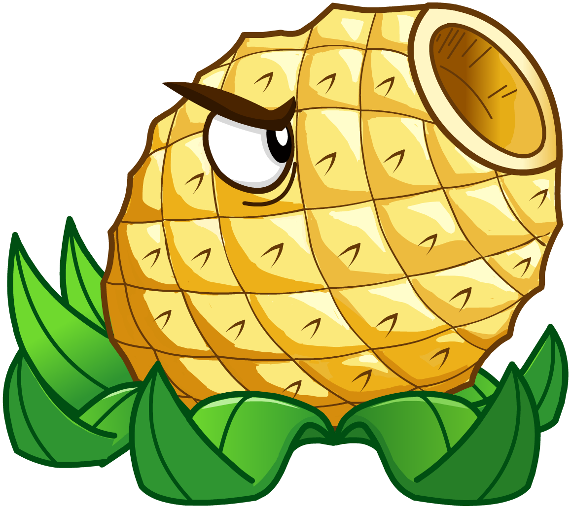 Cannon plants vs zombies. Pineapple clipart banana
