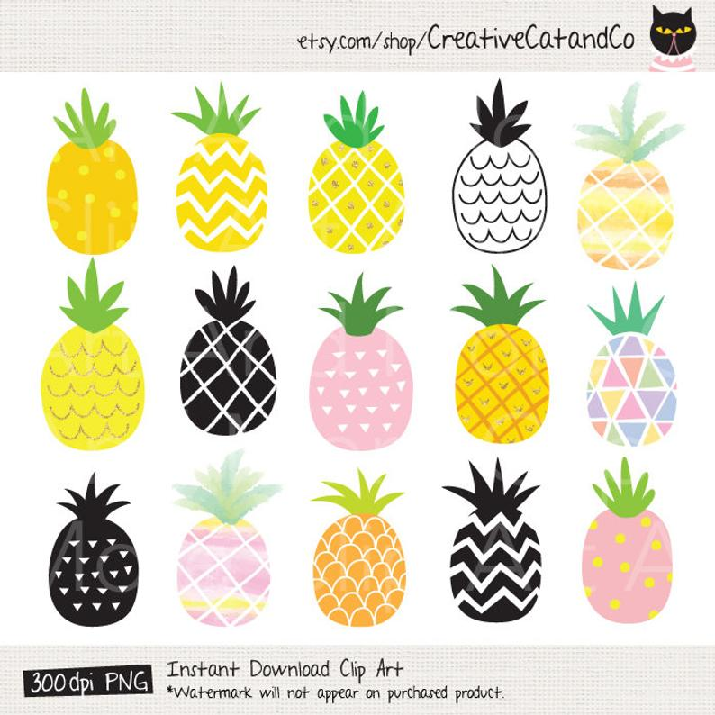 Clip art cute gold. Pineapple clipart pineaplle