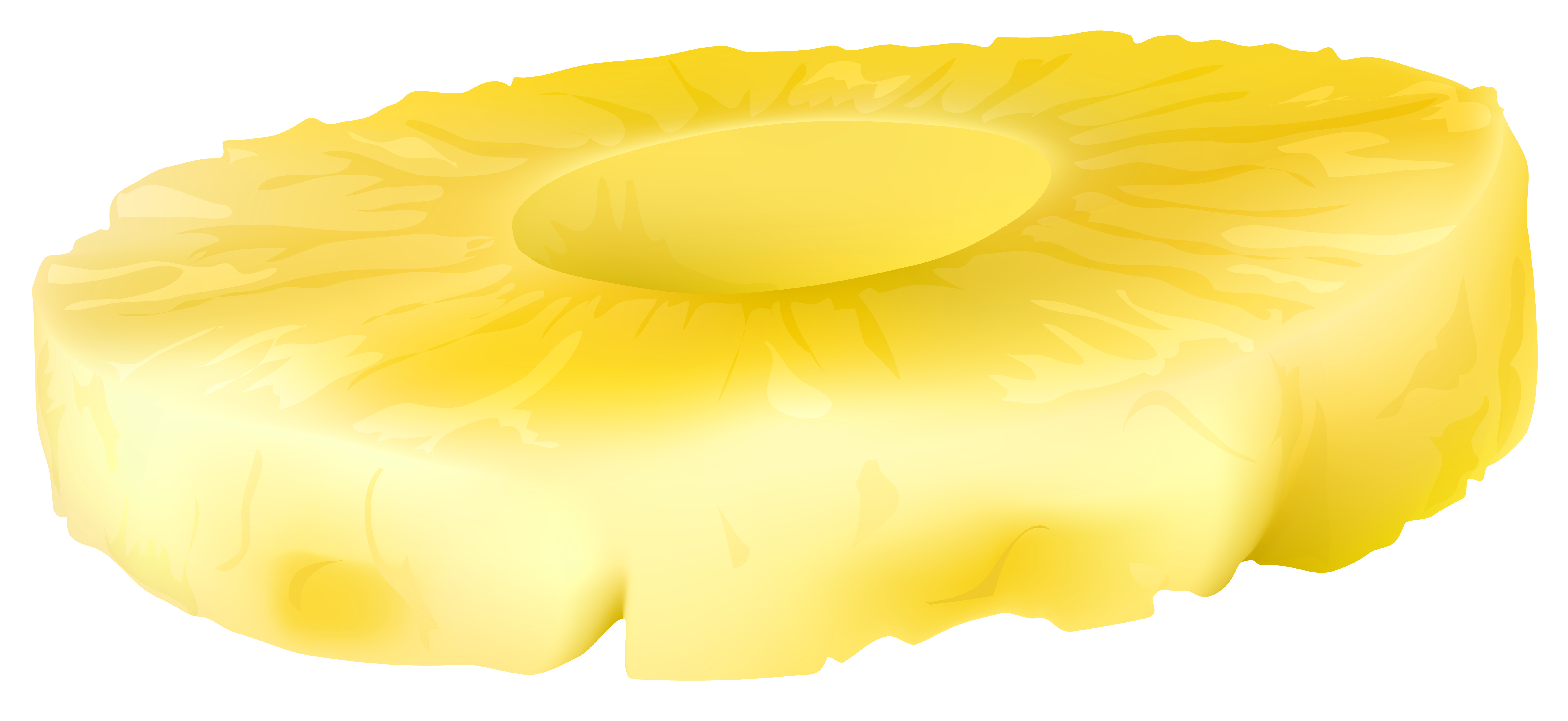 Pineapple clipart pineapple slice. Png clip art image