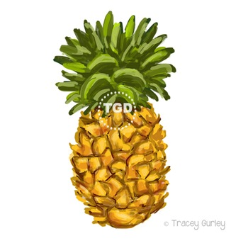 Clip art tracey gurley. Pineapple clipart printable