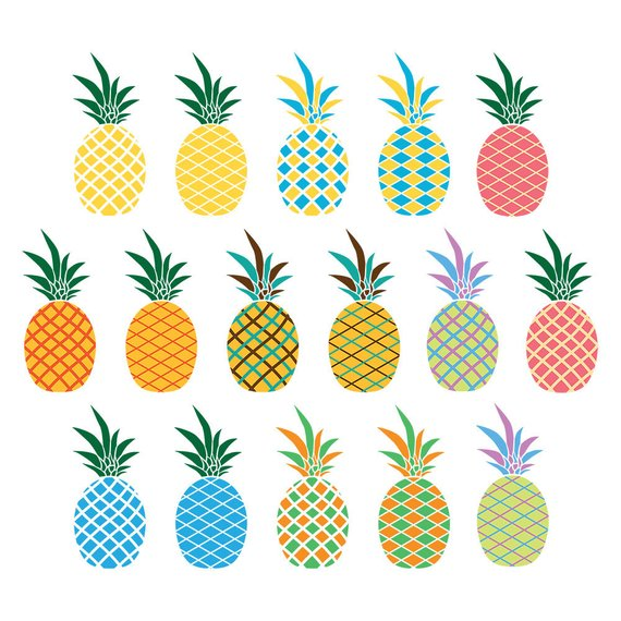 Pineapple clipart printable.  pineapples graphics summer