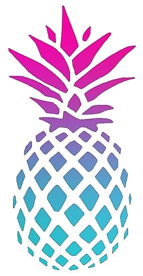 clipart pineapple purple