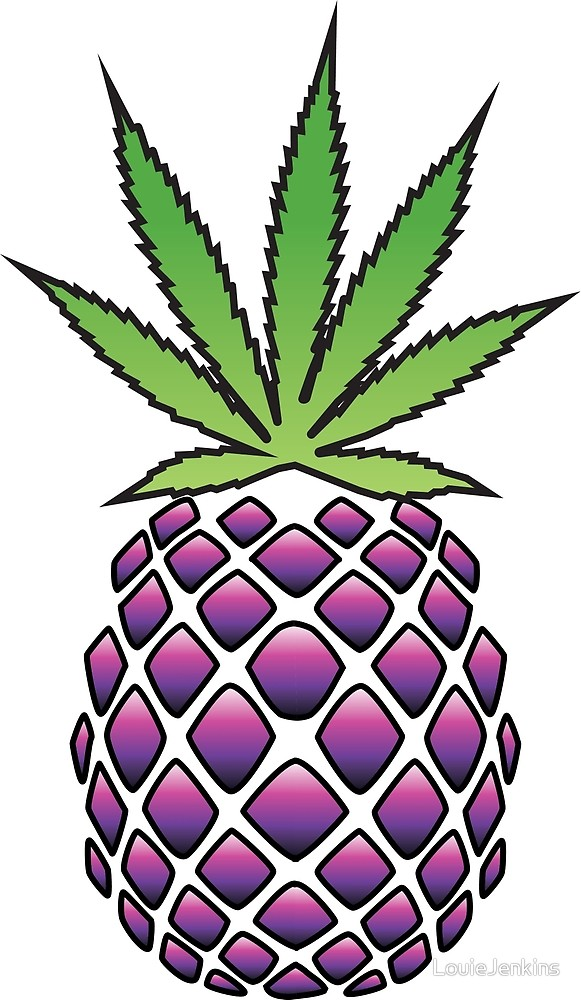 Pineapple clipart purple. Granddaddy colours by louiejenkins