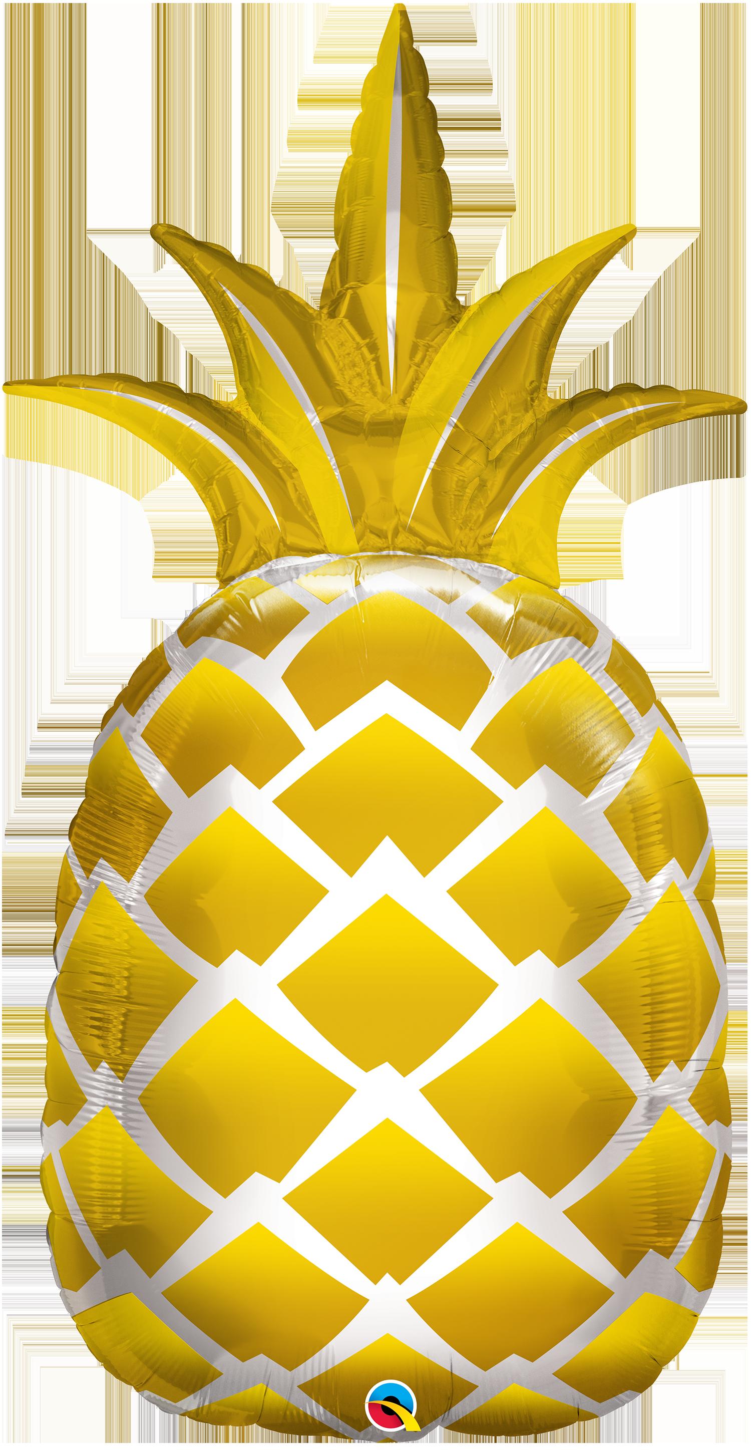 shape foil golden. Lemons clipart pineapple