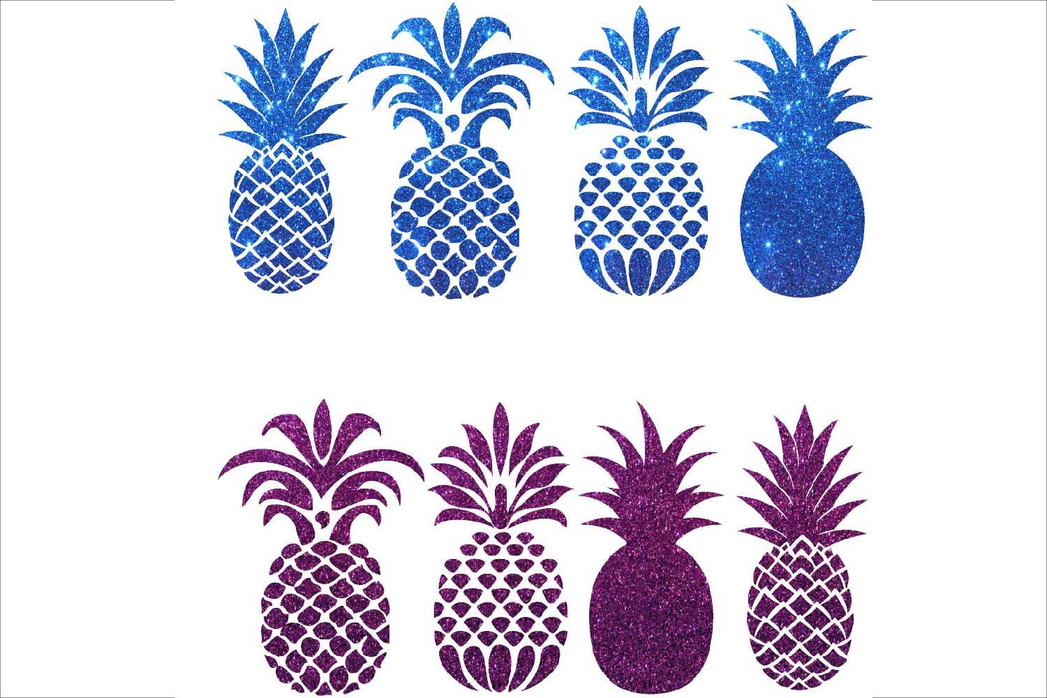 Silhouettes . Pineapple clipart purple