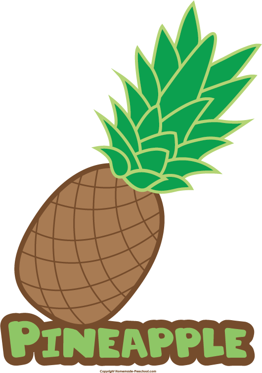 Pineapple clipart simple. Free food groups click
